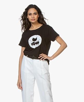 MKT Studio Trine Woodstock Print T-shirt - Black