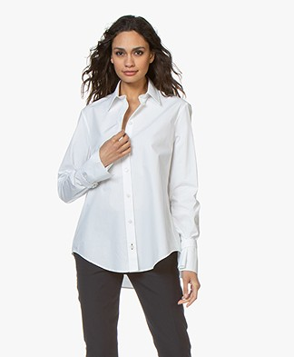 Joseph Rem Cotton Poplin Shirt - White
