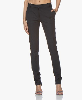 Joseph Zoran Gabardine Stretch Pants - Navy