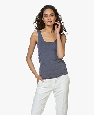 Majestic Filatures Abby Soft Touch Jersey Tank Top - Denim Chiné