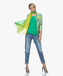 Kyra & Ko Annie Mid Sleeve T-shirt - Green