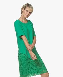 Kyra & Ko Digma Crepe Blouse - Green