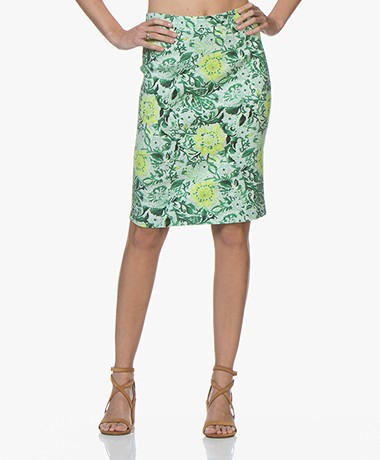Kyra & Ko Ottila Floral Pencil Skirt - Green