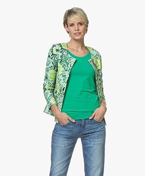 Kyra & Ko Iza Floral Blazer Jacket - Green