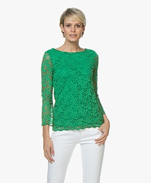Kyra & Ko Airen Lace Blouse - Green