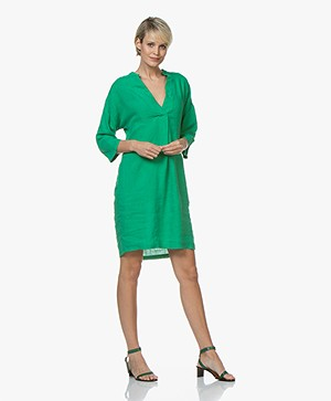Kyra & Ko Maria Linen Dress - Green
