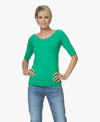 Kyra & Ko Annie T-shirt met Halflange Mouwen - Groen