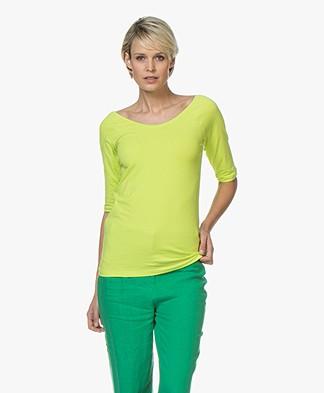 Kyra & Ko Annie Mid Sleeve T-shirt - Lime