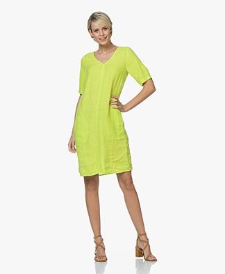 Kyra & Ko Ayla Linen Dress - Lime