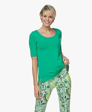 Kyra & Ko Hetta Jersey R-hals T-shirt - Groen