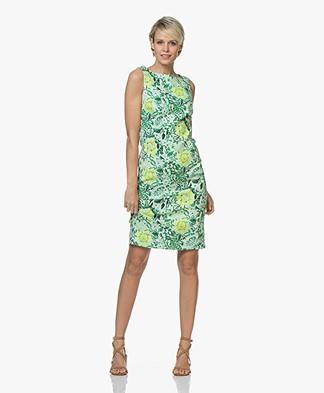 Kyra & Ko Esther Floral Sleeveless Dress - Green