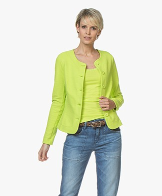 Kyra & Ko Estelle Textured Blazer Cardigan - Lime