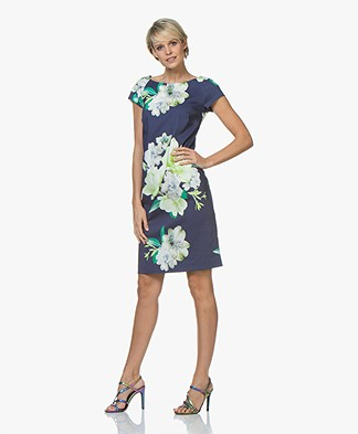 Kyra & Ko Kilian Floral Dress - Indigo