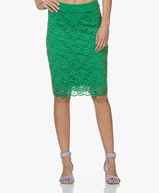 Kyra & Ko Maan Lace Pencil Skirt - Green