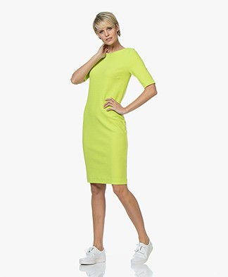 Kyra & Ko Marieke Textured Jersey Dress - Lime