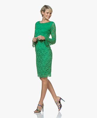 Kyra & Ko Romijn Lace Dress - Green