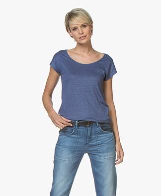 Kyra & Ko Sharon Linen T-shirt - Indigo