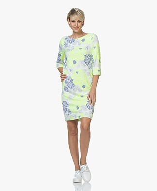 Kyra & Ko Svea Brocade Jacquard Dress - Lime