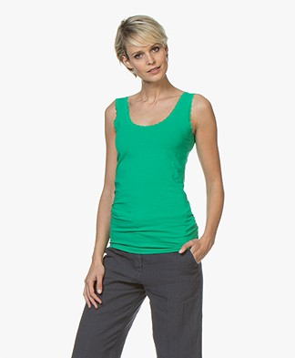 Kyra & Ko Josine Tank Top with Lace - Green