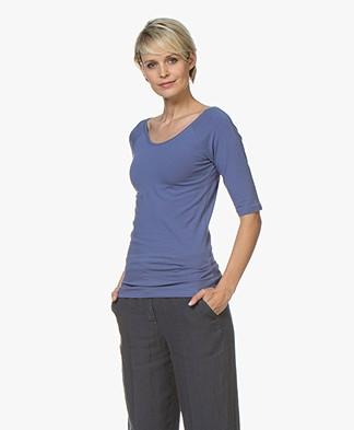 Kyra & Ko Annie T-shirt met Halflange Mouwen - Indigo