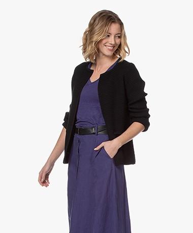 Sibin/Linnebjerg Lulu Short Cardigan - Black
