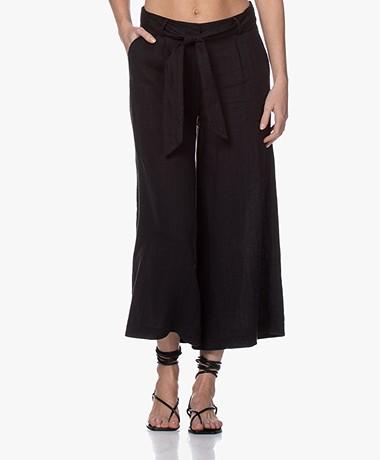 Kyra & Ko Laurine Linen Culottes - Black