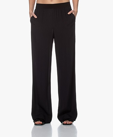 by-bar Vive Viscose Crepe Pants - Black