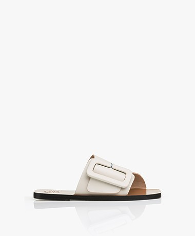 ATP Atelier Ceci Leather Buckle Sandals - Ice White