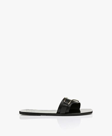 ATP Atelier Urmo Leather Sandals - Black