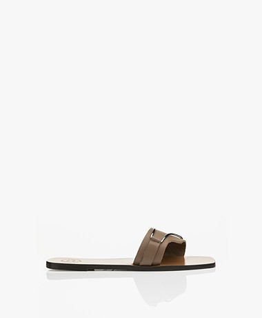 ATP Atelier Urmo Leather Sandals - Khaki Brown