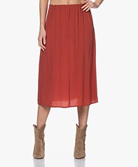 Denham Venice Cupro Blend Skirt - Red Ochre