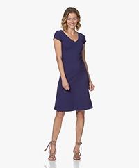Kyra & Ko Blanche Fit & Flare Jersey Dress - Denim