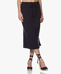 Josephine & Co Bela Bias-cut Tencel Blend Midi Skirt - Navy