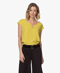 Kyra & Ko Terri Bamboo Blouse with Short Sleeves - Kiwi