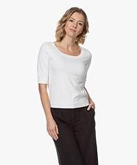 Kyra & Ko Renise Short Knitted S/S Pullover - White