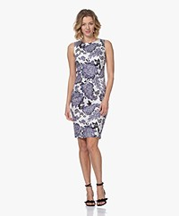 Kyra & Ko Jeena Sleeveless Print Dress - White