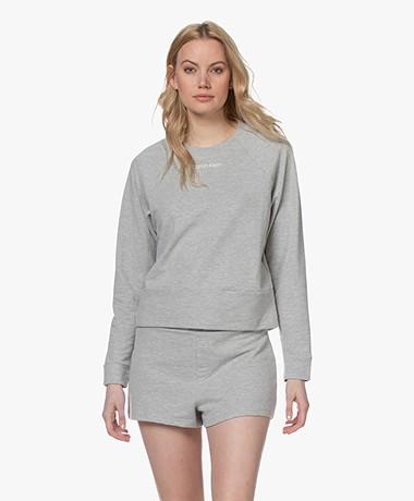 Calvin Klein Reconsidered Comfort Logo Sweater - Grijs Mêlee