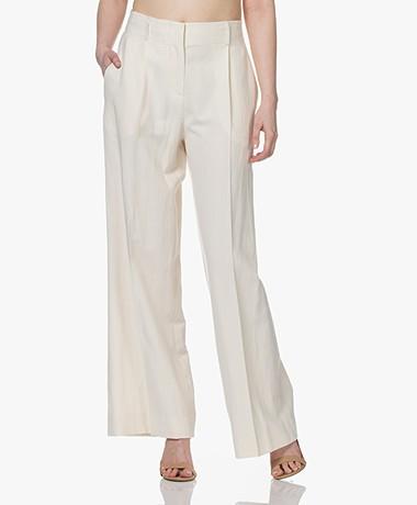 Vanessa Bruno Rodolf Linen Blend Pants - Cream