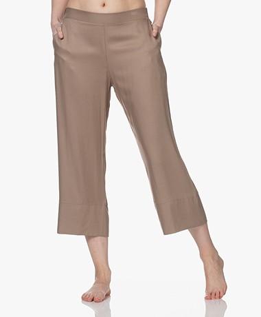 HANRO Favourites Cropped Twill Lounge Pants - Cobblestone