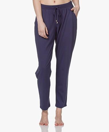 HANRO Sleep & Lounge Jersey Pants - Nightshade