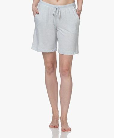 HANRO Natural Elegance Jersey Lounge Shorts - Celestrial Blue Melange