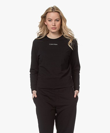 Calvin Klein Reconsidered Comfort Logo Sweater - Zwart