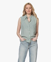 ba&sh Bossa Sleeveless Cotton Shirt - Pastel Green