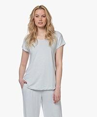 HANRO Natural Elegance T-shirt - Celestrial Blue Melange