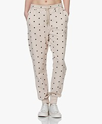 By Malene Birger Tanya French Terry Print Sweatpants - Stone