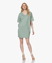 Drykorn Kabelle Lyocell Blend T-shirt Dress - Sage Green