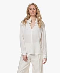 Vanessa Bruno Druyat Voile Gestreept Overhemd - Off-white