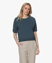 by-bar Neva Cotton Short Sleeve Sweatshirt - Oil Blue