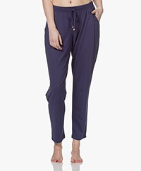 HANRO Sleep & Lounge Jersey Pants - Nightshade