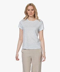 Filippa K Hazel Linnen T-shirt - Washed Blue